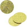 Sequins Hologram 30mm 1mm Hole Round Yellow